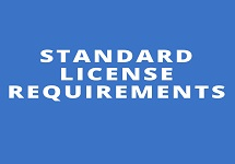 Standard License Requirements