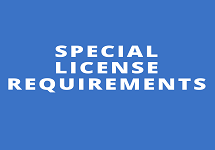 Special License Requirements