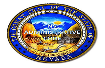 great seal of the state of nevada with nv administrative code