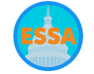 ESSA in orange over top of state capitol